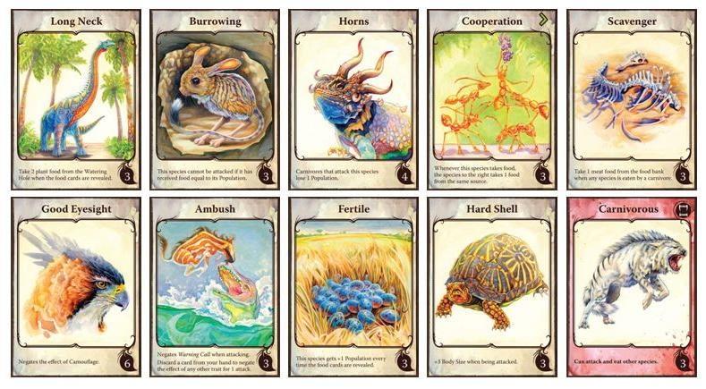 Evolution trait cards